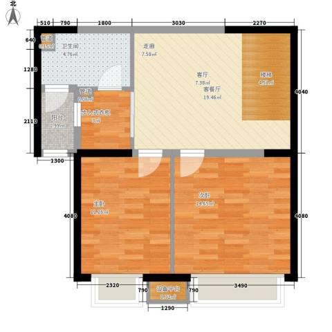 中海龙湾二期2室1厅1卫0厨160.00㎡户型图