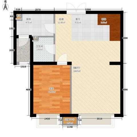中海龙湾二期1室1厅1卫1厨160.00㎡户型图