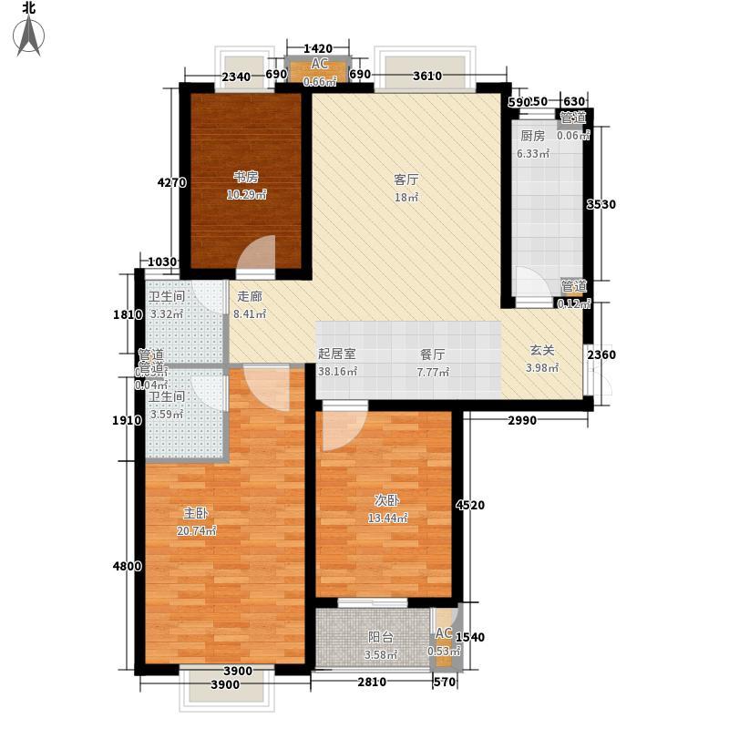 尚座126.73㎡三居室面积12673m户型