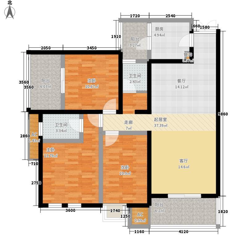 神仙树大院(高新)125.70㎡三期J3面积12570m户型