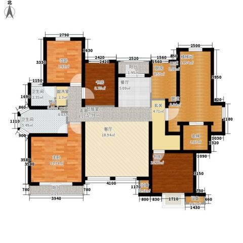 雨润新城4室0厅2卫1厨131.00㎡户型图