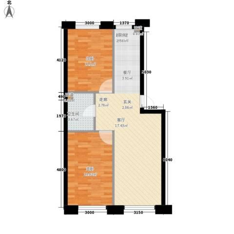 富民花园三期2室0厅1卫0厨74.00㎡户型图
