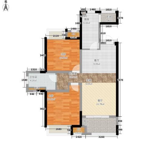 协信阿卡迪亚2室0厅1卫1厨83.00㎡户型图