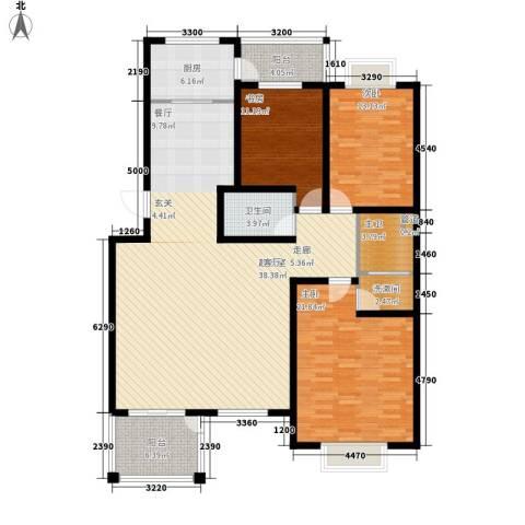 美好家园3室0厅1卫1厨185.00㎡户型图