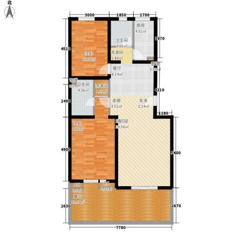 美好家园2室0厅2卫1厨140.00㎡户型图