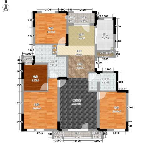 绿地中央墅4室0厅2卫1厨135.00㎡户型图