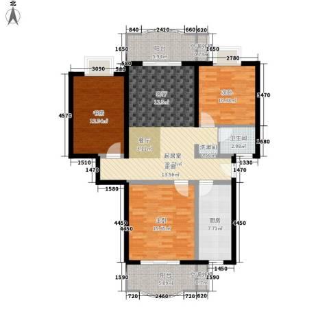 田园美居3室0厅1卫1厨103.00㎡户型图
