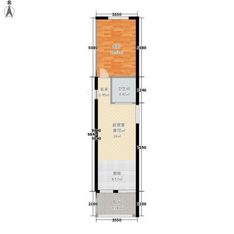 龙泉国际1室0厅1卫0厨60.00㎡户型图