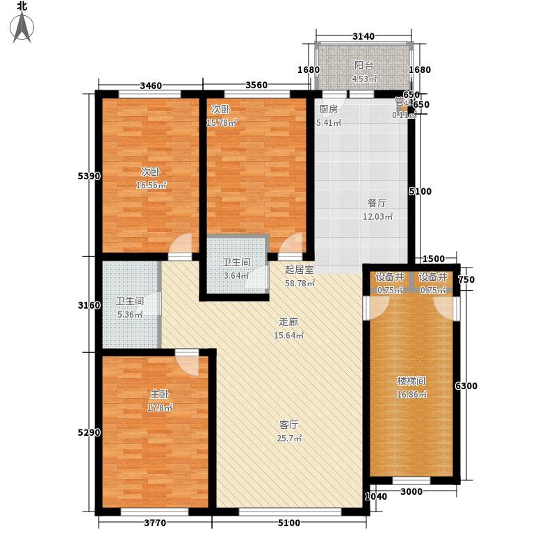 碧海蓝天158.00㎡碧海蓝天3室户型3室