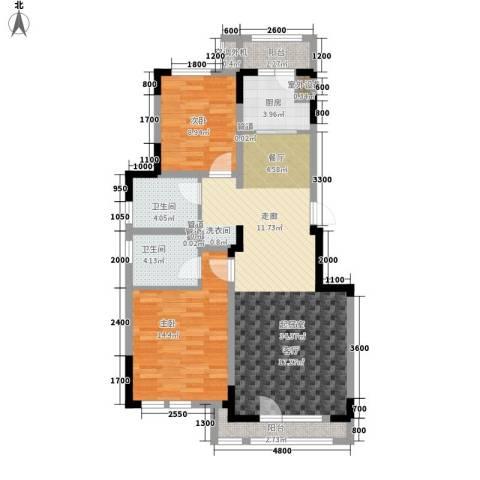 绿地中央墅2室0厅2卫1厨100.00㎡户型图
