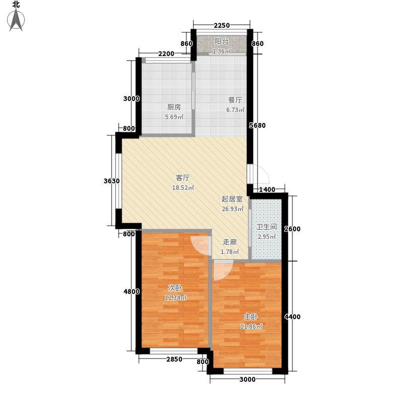 聚亿城市经典花园60.00㎡聚亿城市经典花园1室户型1室
