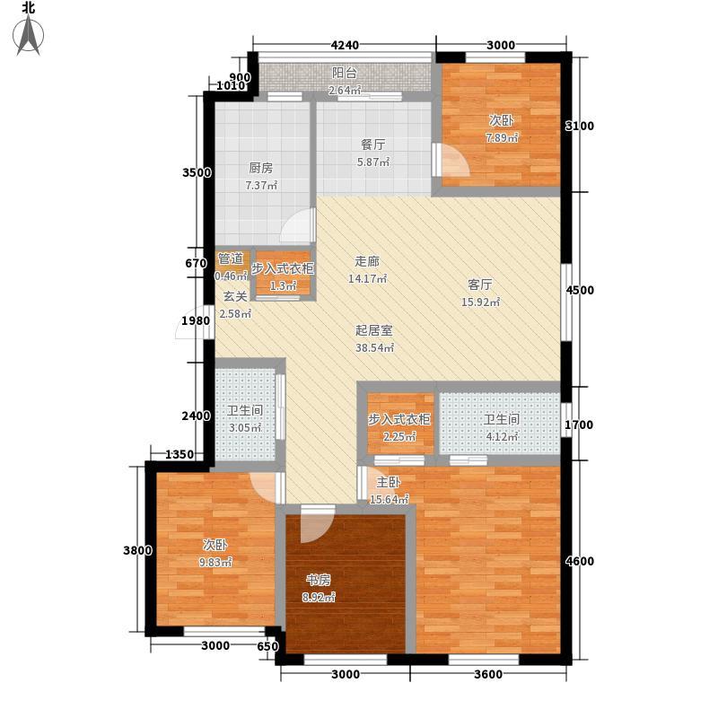 桃源V尊142.00㎡G户型4室2厅2卫