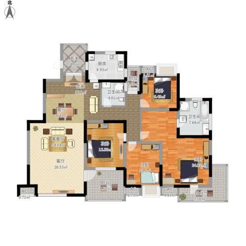 金地格林世界森林公馆4室1厅2卫1厨175.00㎡户型图