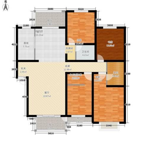 美好家园4室0厅1卫1厨208.00㎡户型图
