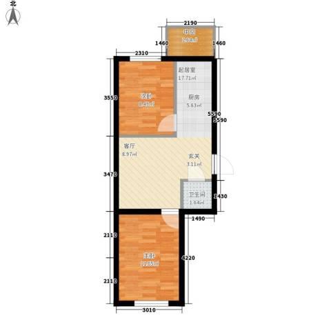 富民花园三期2室0厅1卫0厨64.00㎡户型图