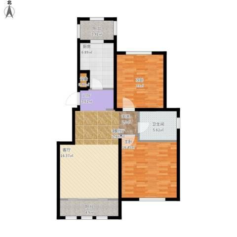 融科瀚棠2室1厅1卫1厨113.00㎡户型图