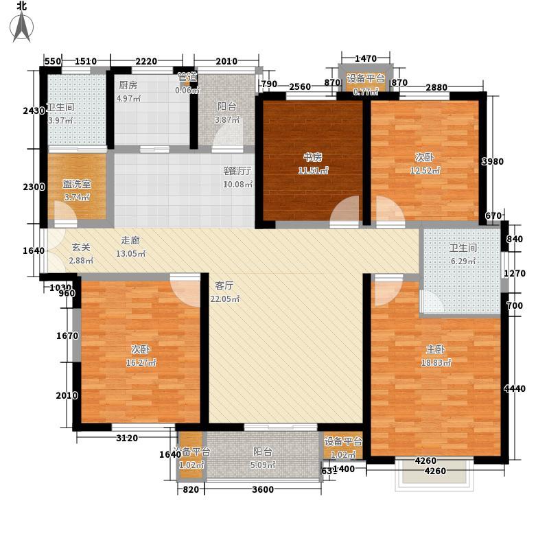 世纪康城129.00㎡世纪康城4室户型4室