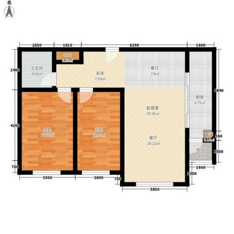 水云间2室0厅1卫1厨100.00㎡户型图
