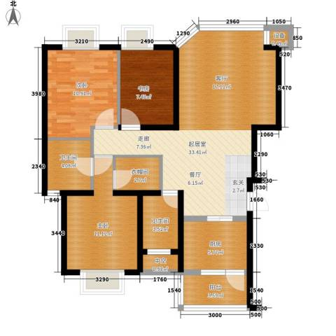 康路蓝山日记3室0厅2卫1厨96.00㎡户型图