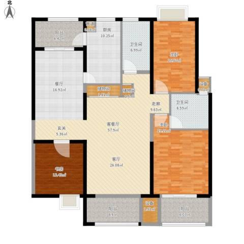 黄浦逸城3室1厅2卫1厨216.00㎡户型图