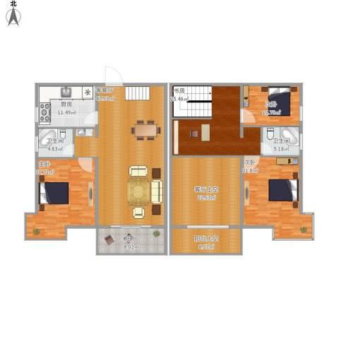枫桥水岸4室1厅2卫1厨256.00㎡户型图