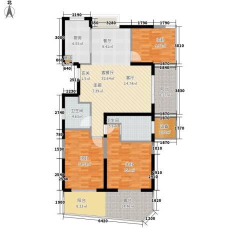 新中国际3室1厅2卫1厨125.00㎡户型图