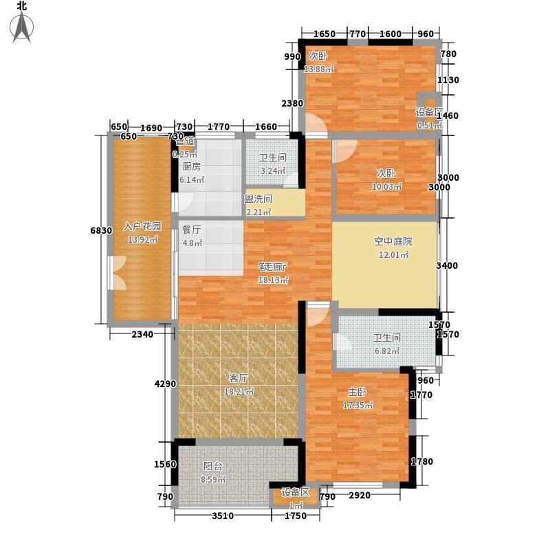 复地东湖国际158.40㎡F2户型3室2厅