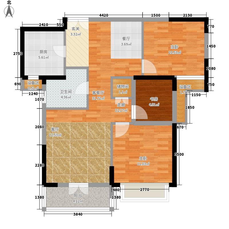 复地东湖国际97.56㎡M3-2户型2室2厅