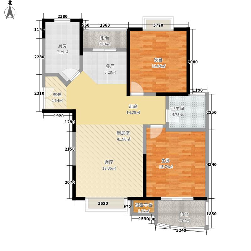 城宁花苑103.00㎡房型: 二房; 面积段: 103 -122 平方米; 户型