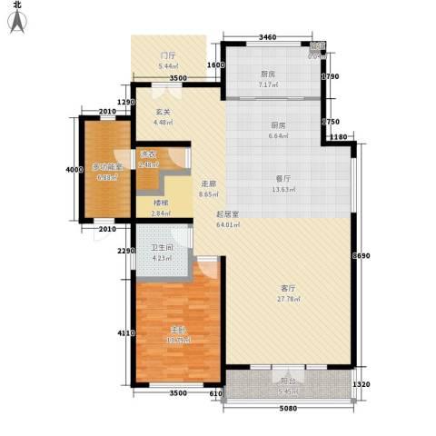 国瑞生态城1室0厅1卫1厨144.00㎡户型图