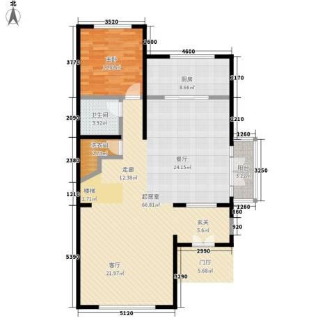 国瑞生态城1室0厅1卫1厨134.00㎡户型图
