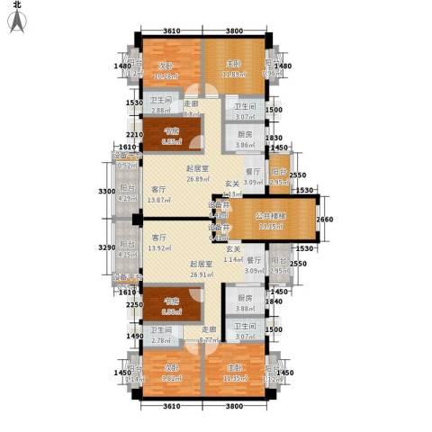 和富家园6室0厅4卫2厨164.40㎡户型图