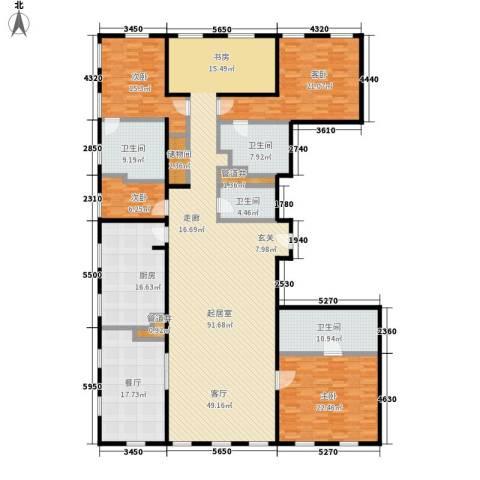 万国城MOMA4室1厅4卫1厨309.00㎡户型图