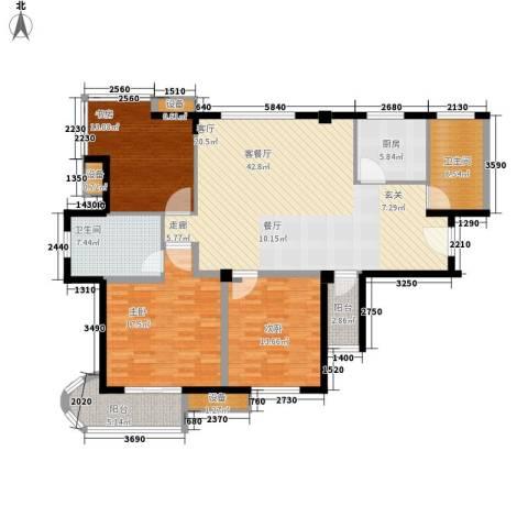 盛大晶座3室1厅2卫1厨134.00㎡户型图