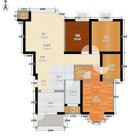 康路蓝山日记3室0厅2卫1厨102.00㎡户型图