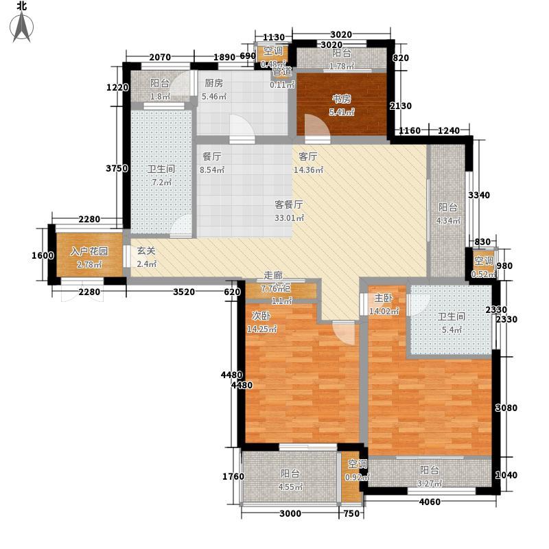 颐园世家16.30㎡二期5#C5户型3室2厅2卫1厨
