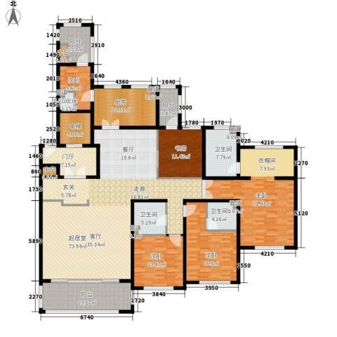 尚御府5室0厅4卫1厨249.00㎡户型图