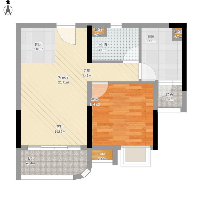 丹阳市碧桂园户型图68平米