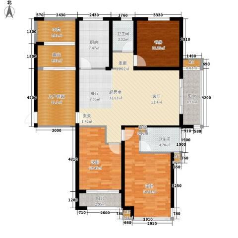 丽景华庭3室0厅2卫1厨132.00㎡户型图