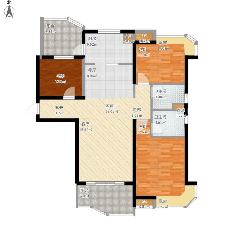 丹阳市碧桂园户型图128-135平米