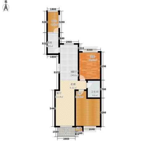 都市广场2室1厅1卫1厨122.00㎡户型图