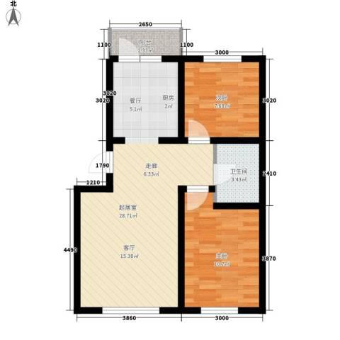 阳光嘉城三期2室0厅1卫0厨60.93㎡户型图