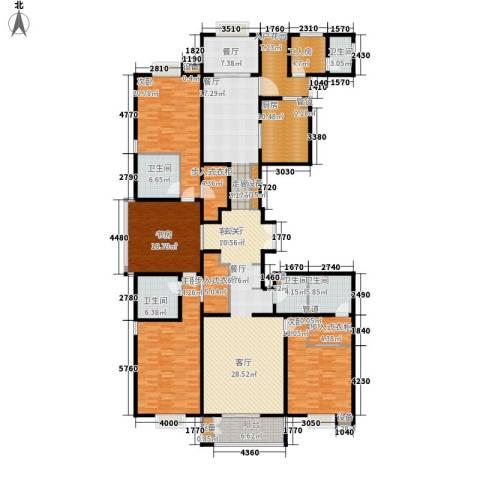 都市广场4室2厅5卫1厨318.00㎡户型图