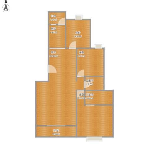 水禾园3室1厅2卫1厨112.00㎡户型图