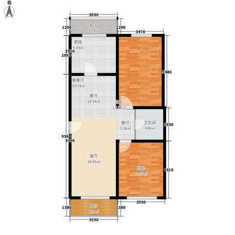 创业公寓二期2室1厅1卫1厨122.00㎡户型图