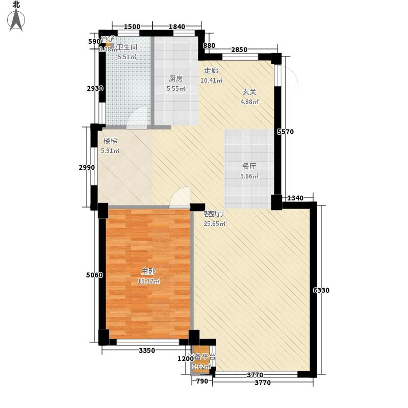 圣罗伦斯95.00㎡圣罗伦斯户型图F户型1层3室2厅2卫户型3室2厅2卫