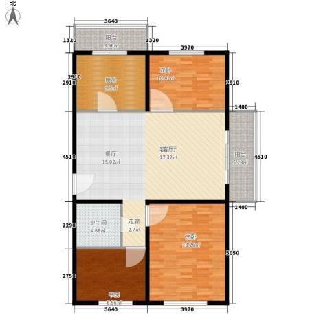 创业公寓二期3室1厅1卫1厨109.00㎡户型图