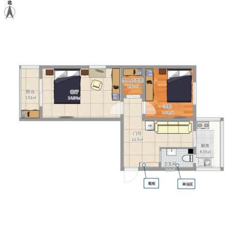 嘉陵南里1室1厅1卫1厨68.00㎡户型图