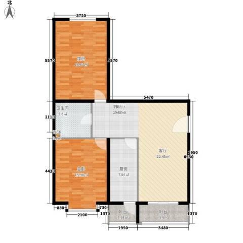 创业公寓二期2室1厅1卫1厨95.00㎡户型图