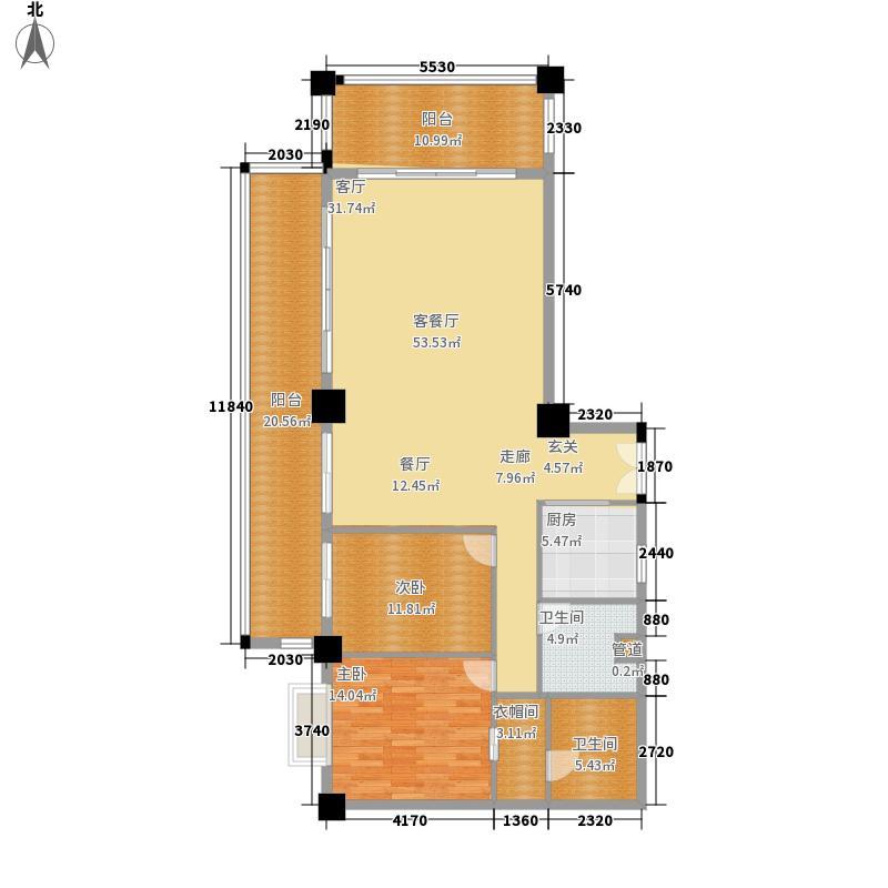 夏威夷海岸168.00㎡公寓户型